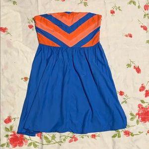 Retro Style Strapless Dress